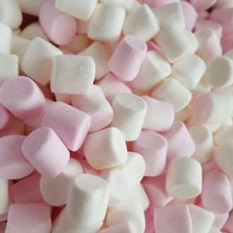 Minis marshmallows blancs et roses